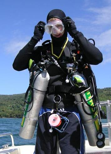 Gas laws for scuba diving